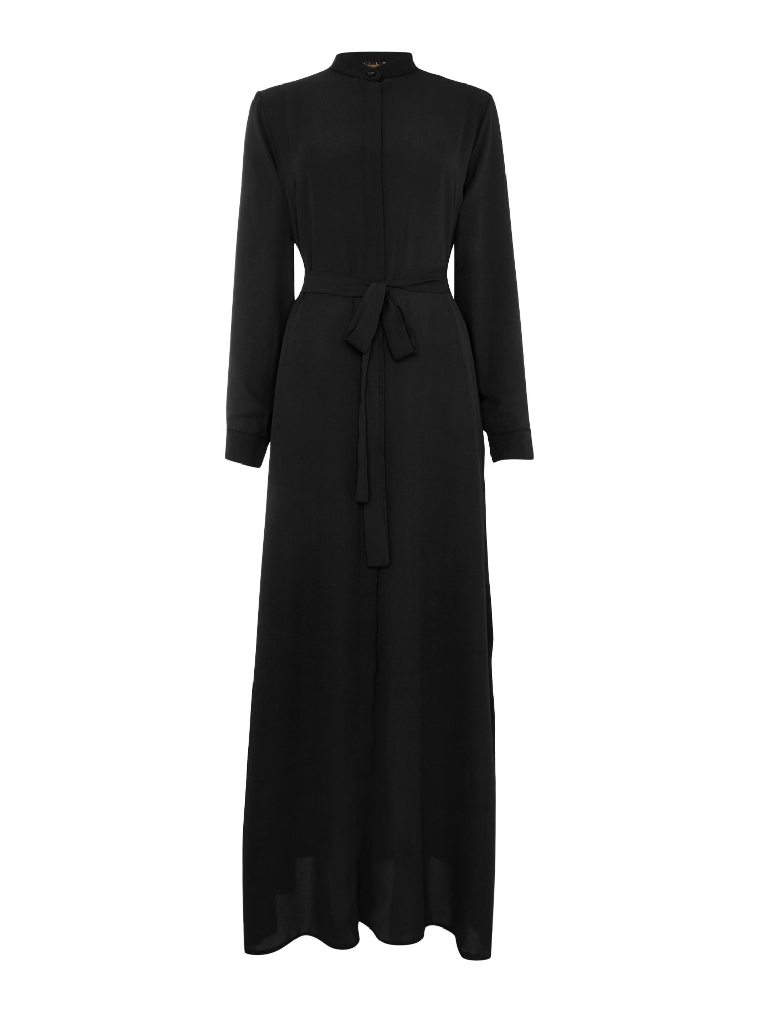 Shorso Maxi shirt dress, Black