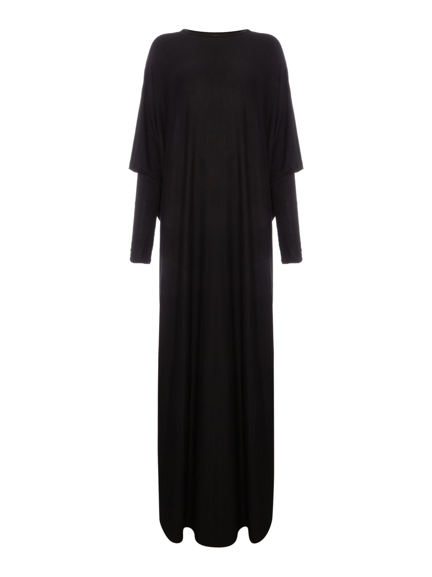 Shorso Batwing jersey maxi dress, Black