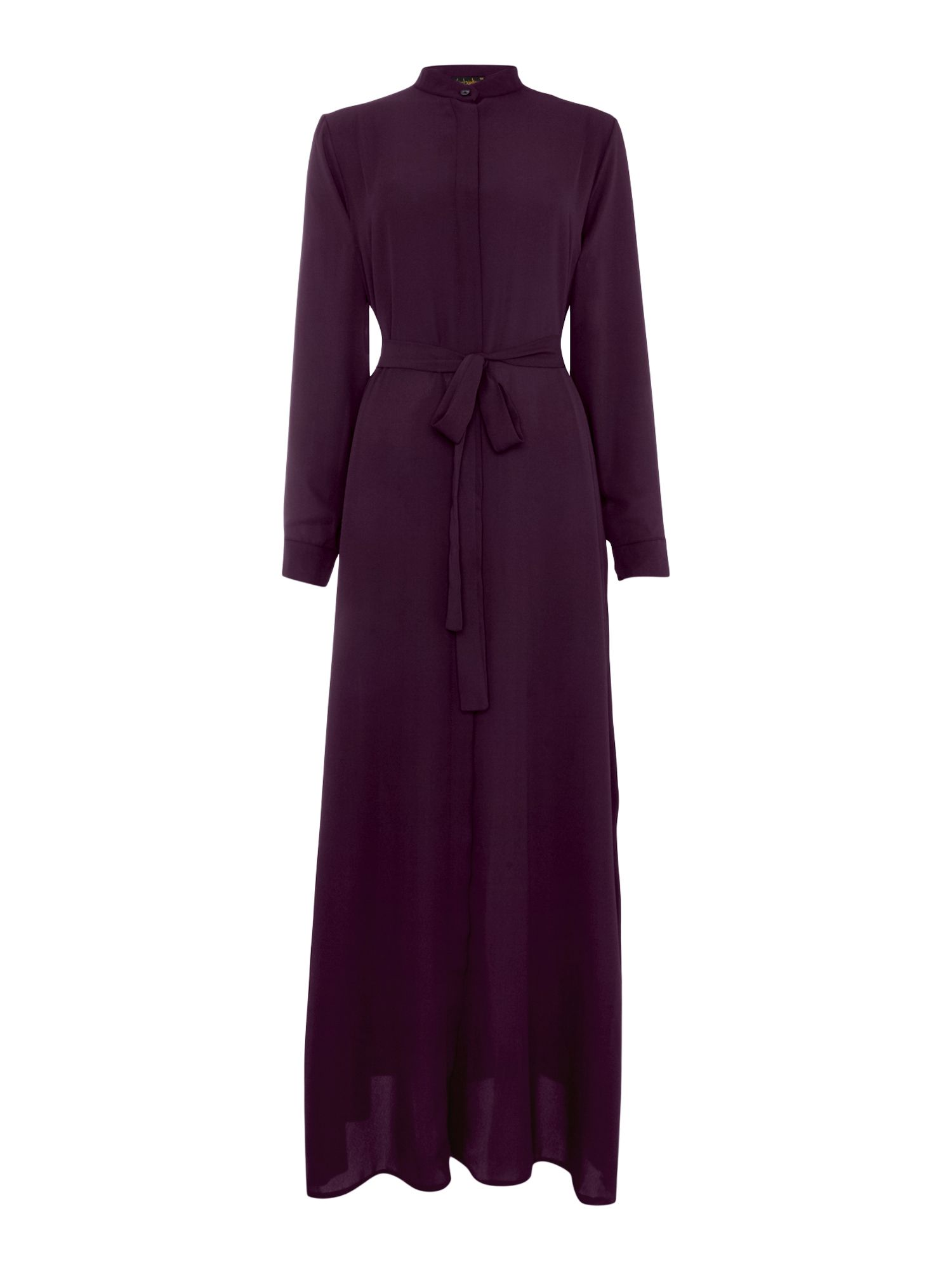 Shorso Maxi shirt dress, Plum