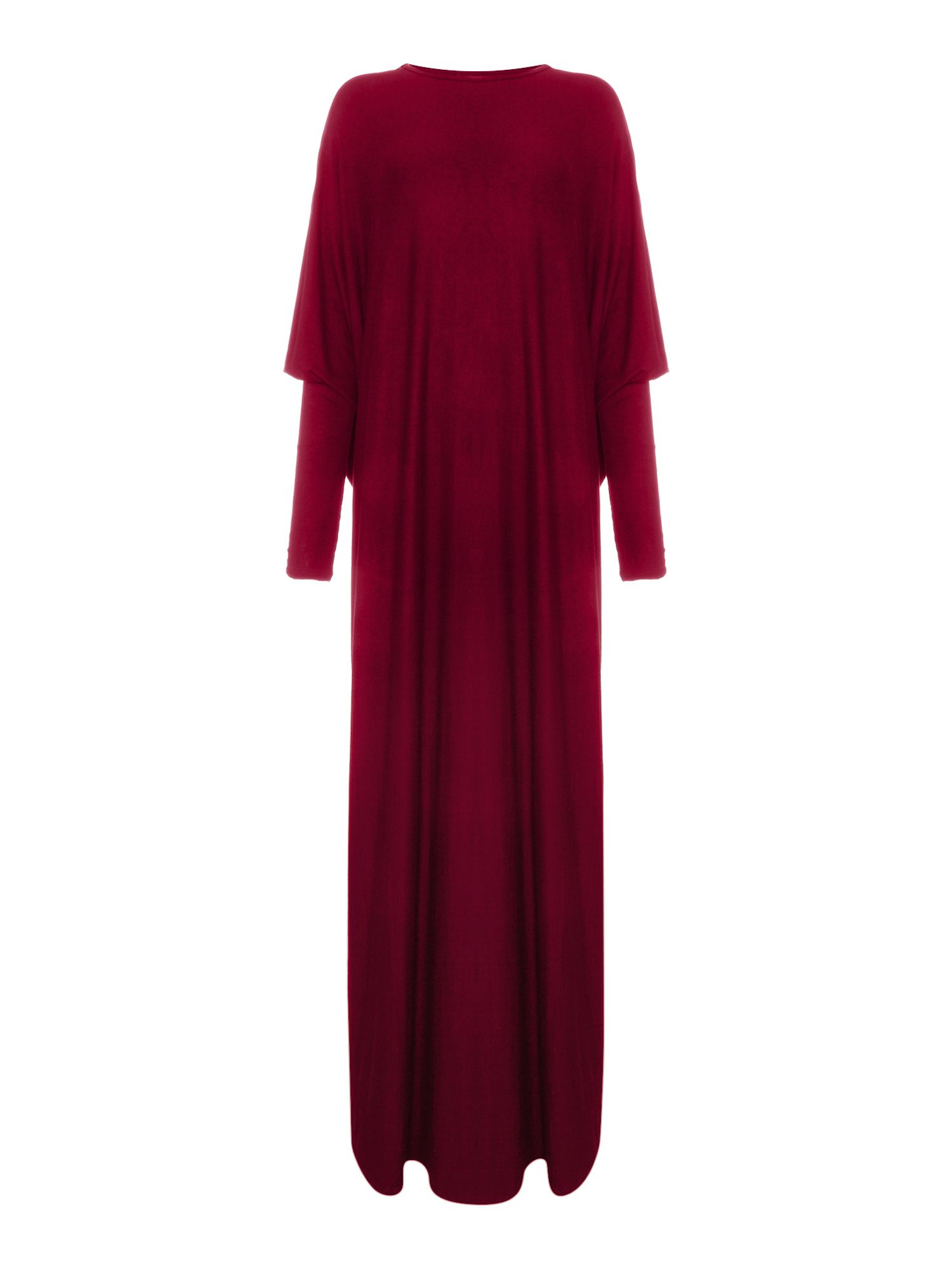 Shorso Batwing jersey maxi dress, Maroon