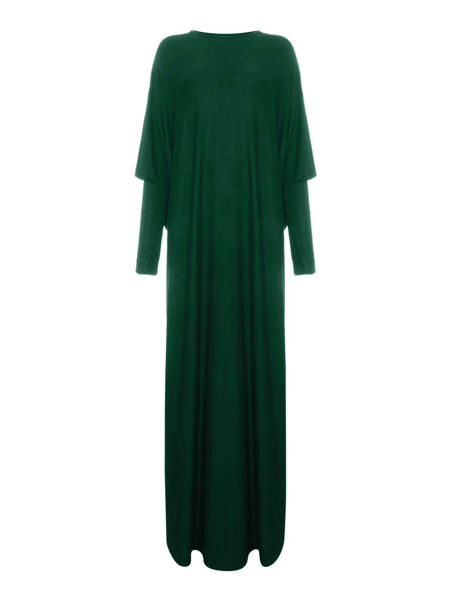 Shorso Batwing jersey maxi dress, Teal