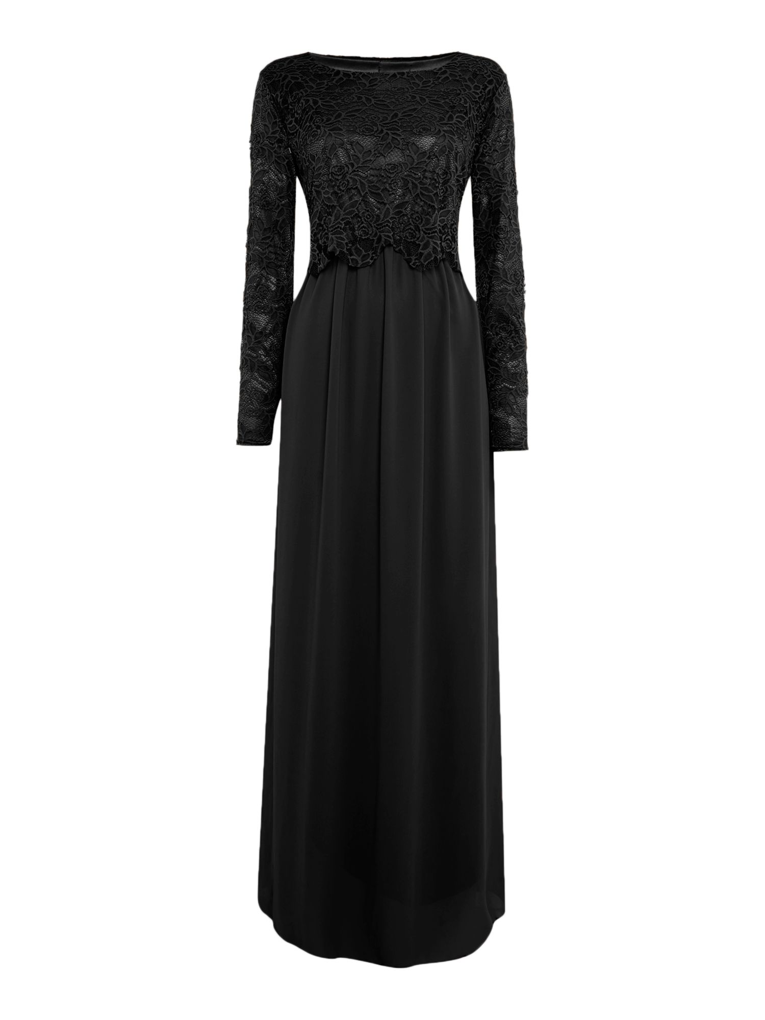 Shorso Lace maxi dress, Black