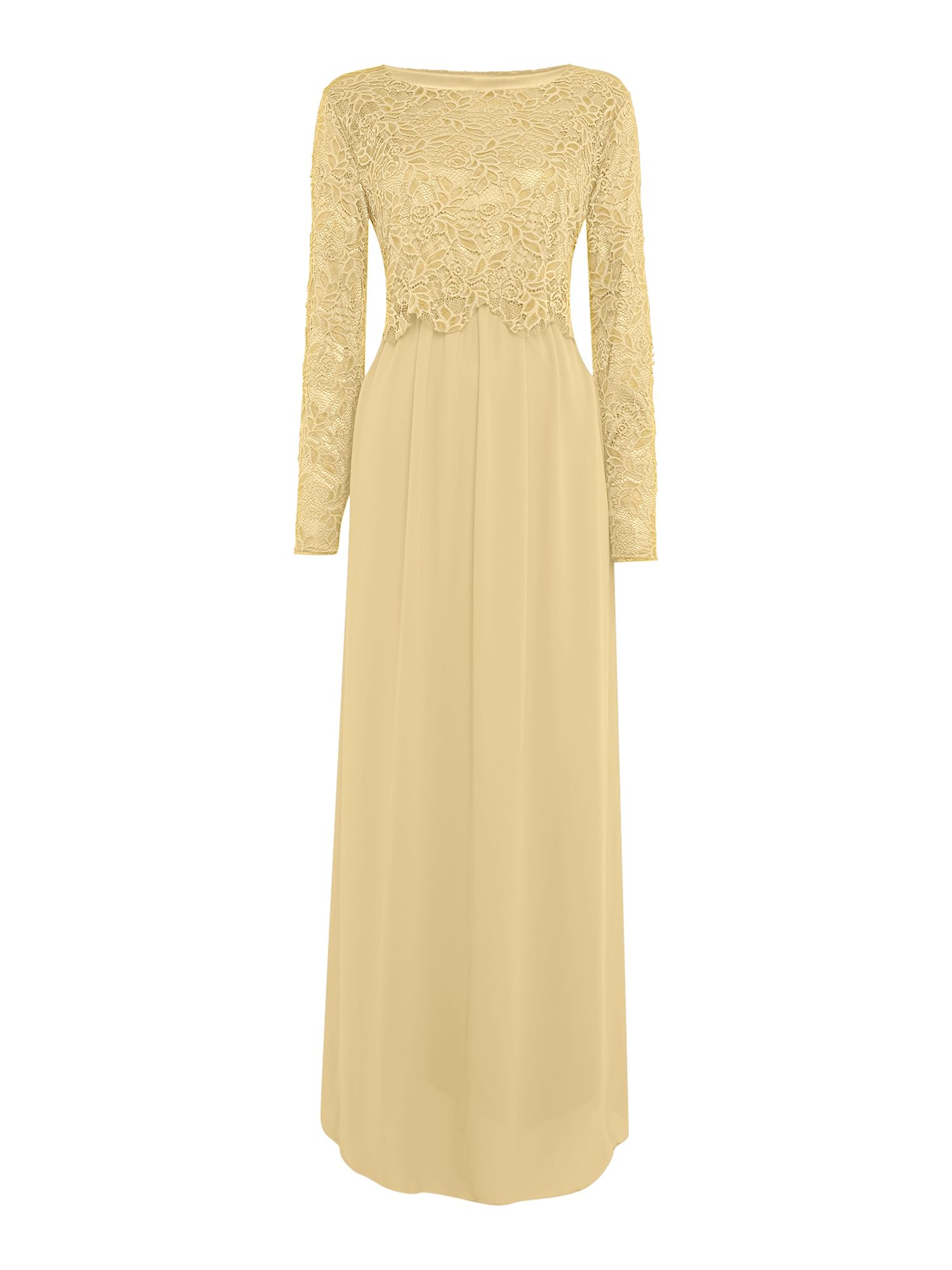Shorso Lace maxi dress, Cream