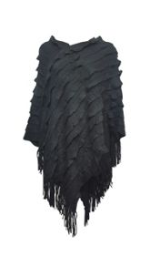 Shorso UK Fringed Poncho Shawl