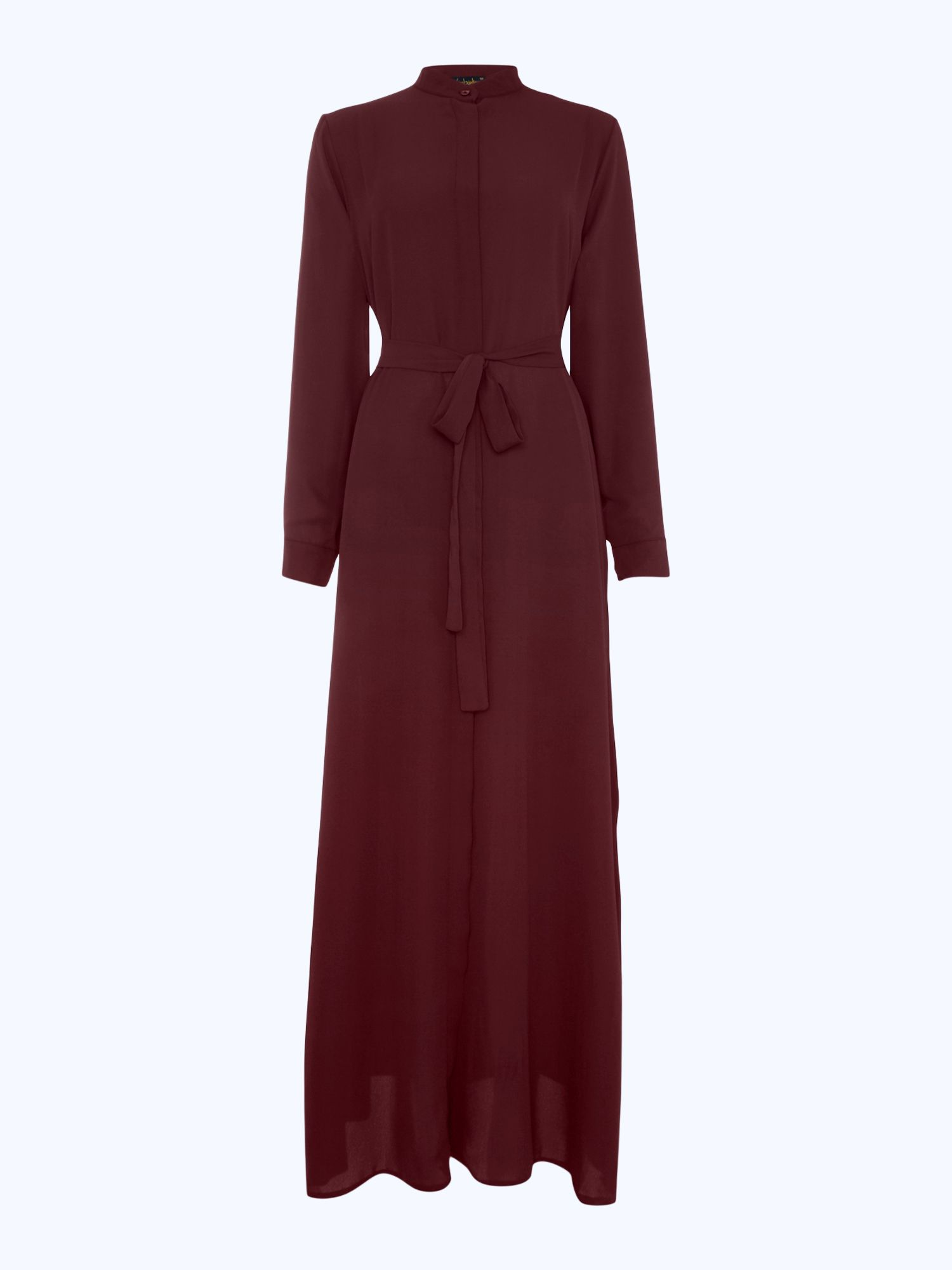 Shorso Maxi shirt dress, Maroon