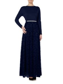 Shorso UK Diamante Lace Maxi Dress