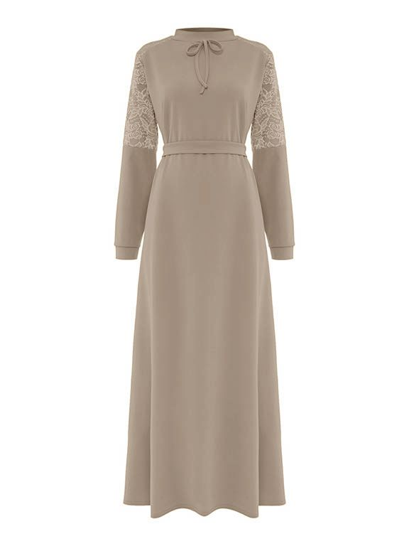 Shorso Lace Maxi Dress, Coffee