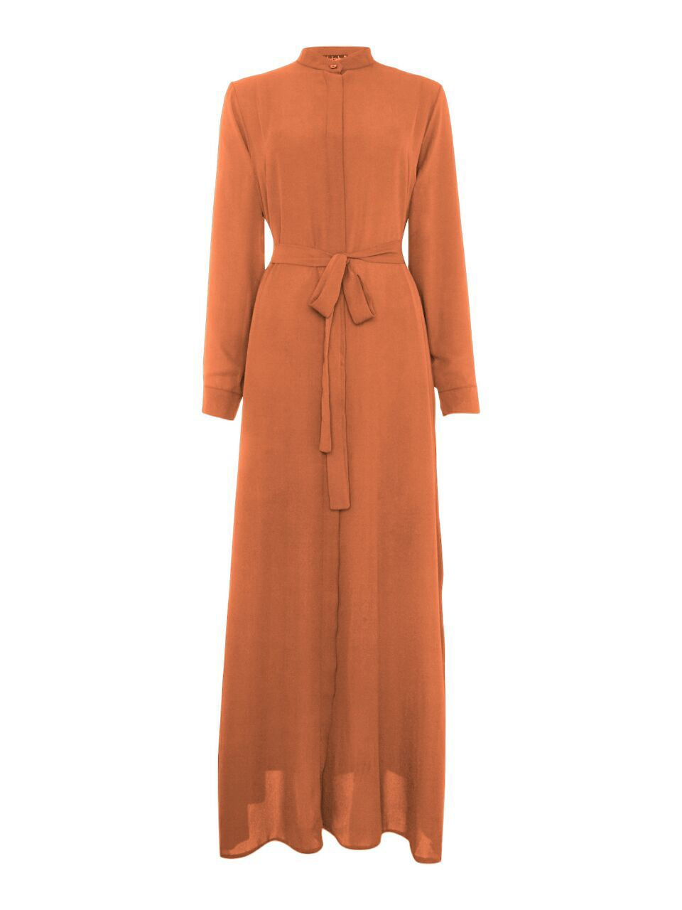 Shorso Maxi shirt dress, Burnt Orange