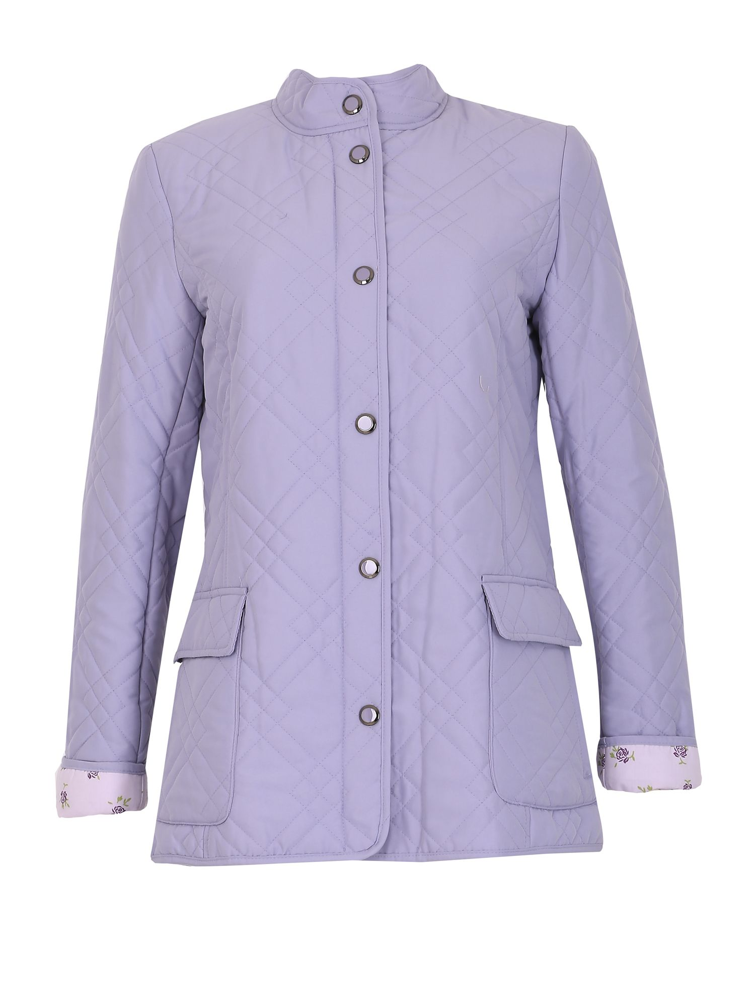 David Barry Light Weight Microfibre Quilted Jacket, Lilac