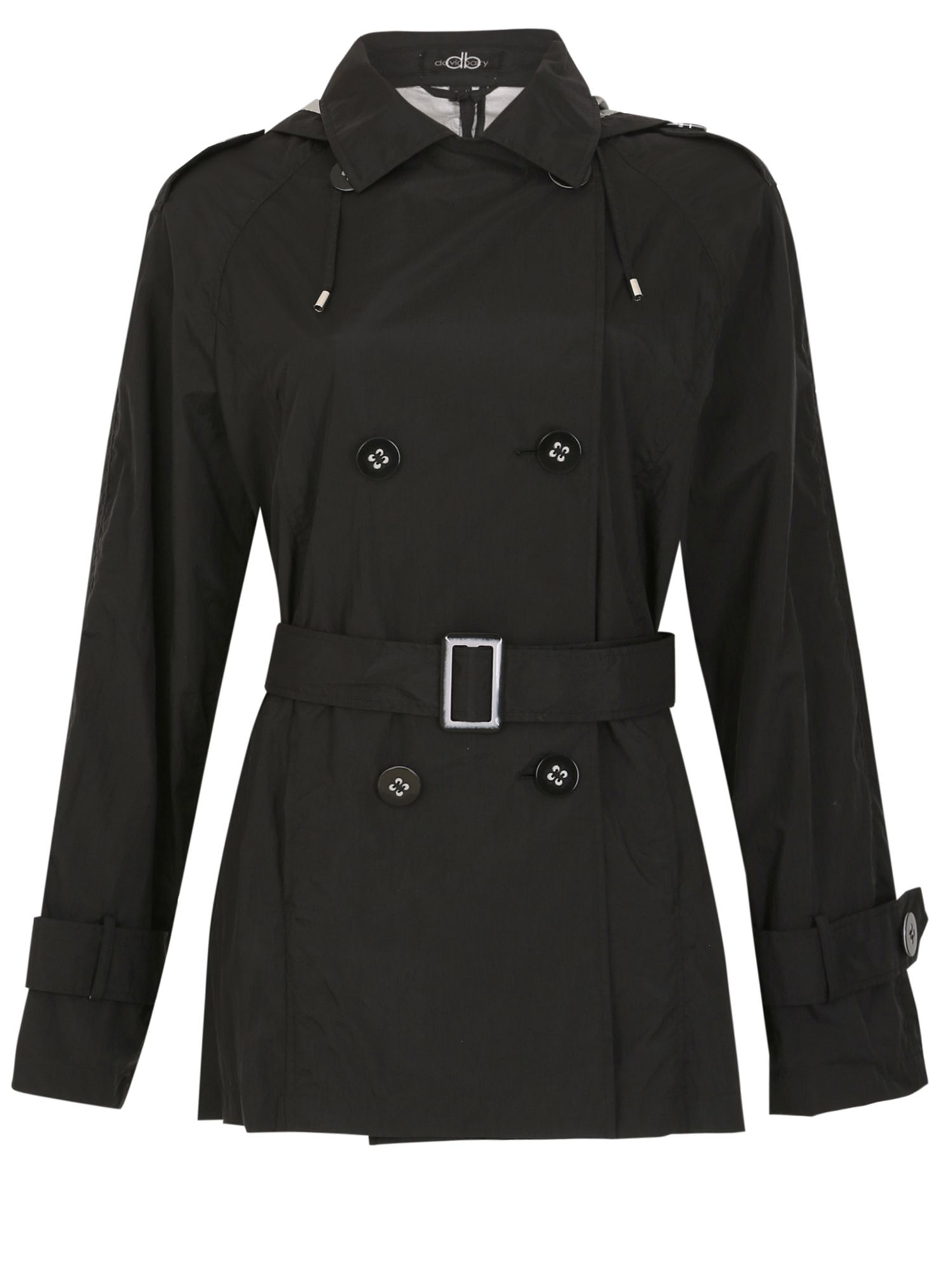David Barry Memory Fabric Trench Rain Jacket, Black