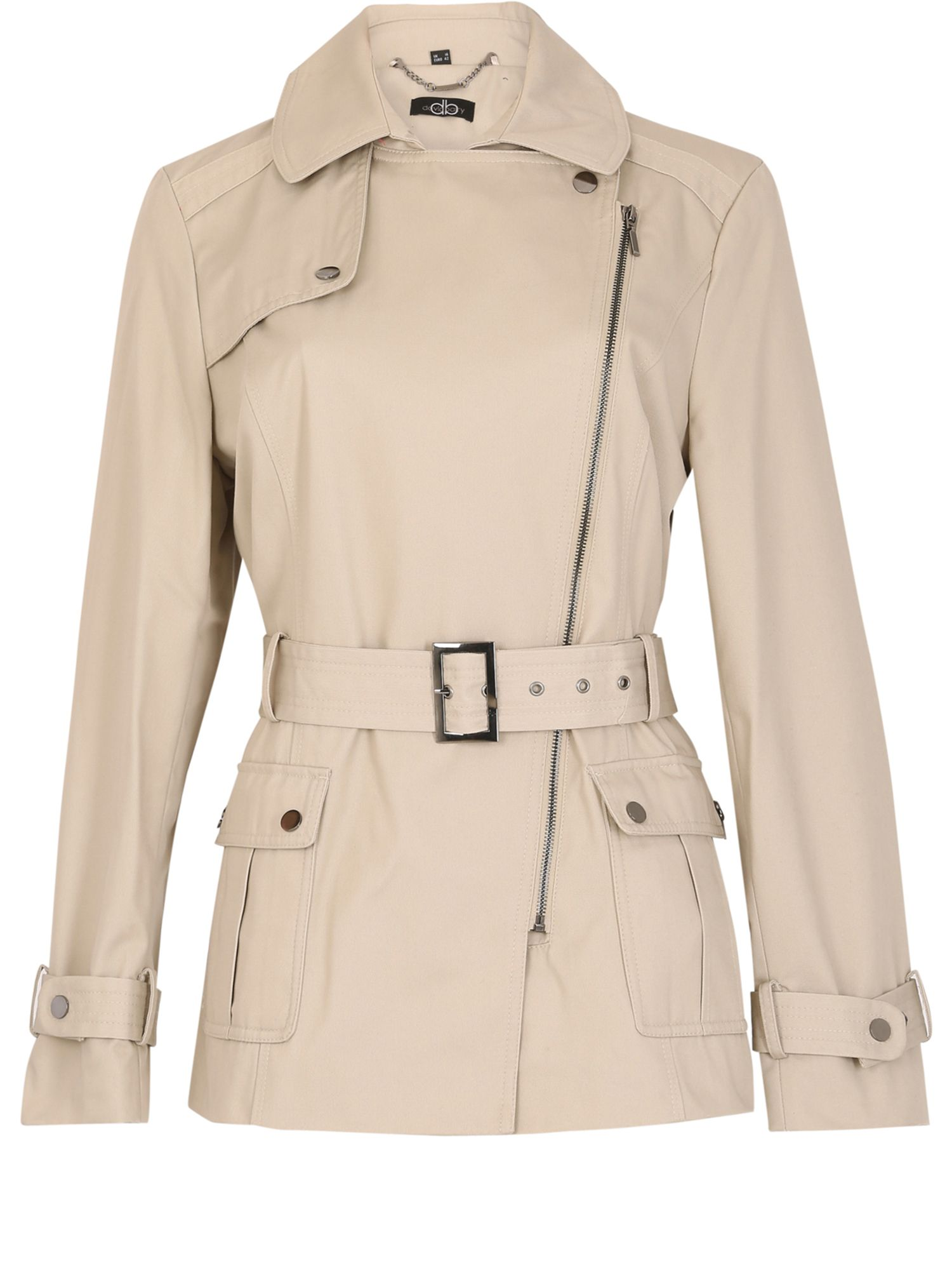 David Barry Short Rain Jacket, Cream