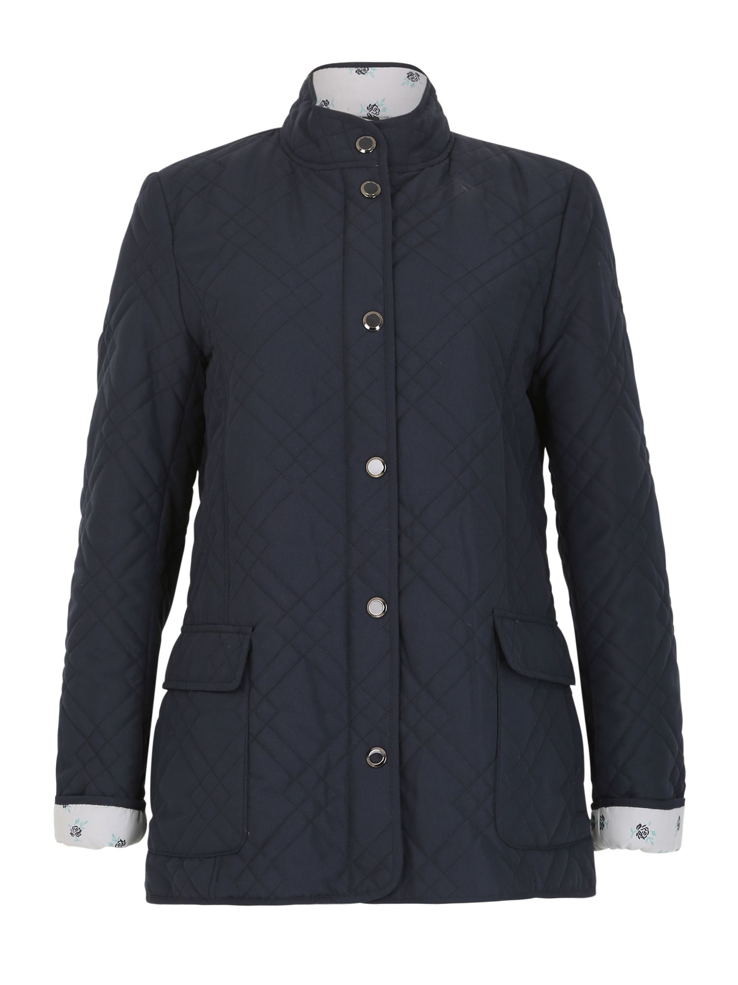 David Barry Light Weight Microfibre Quilted Jacket, Blue