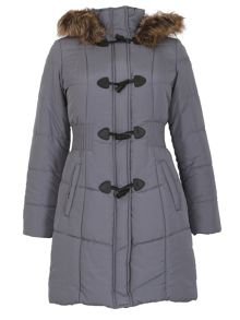 David Barry Womens Warm Padded Parka Coat