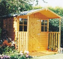 Honeywood Garden Buildings Casita shiplap apex including veranda 7 x 9