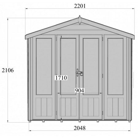 Honeywood Garden Buildings Parham summerhouse 7 x 7