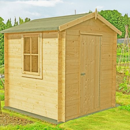 Honeywood Garden Buildings Danbury 19mm log cabin 8 x 8