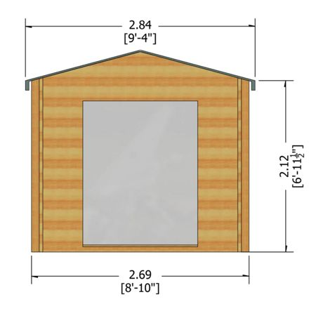 Honeywood Garden Buildings Bradley 19mm log cabin 9 x 9