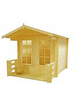Maulden with veranda19mm log cabin 7 x 7