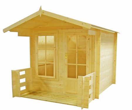 Honeywood Garden Buildings Maulden with veranda 19mm log cabin 9 x 9