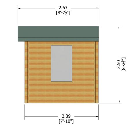 Honeywood Garden Buildings Barnsdale 19mm log cabin 8 x 8