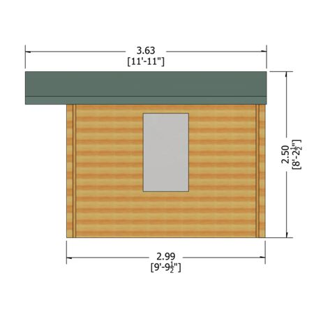 Honeywood Garden Buildings Berryfield 19mm log cabin 11 x 10
