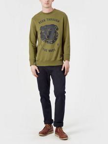 Realm & Empire British Bulldog Print Cotton Sweatshirt