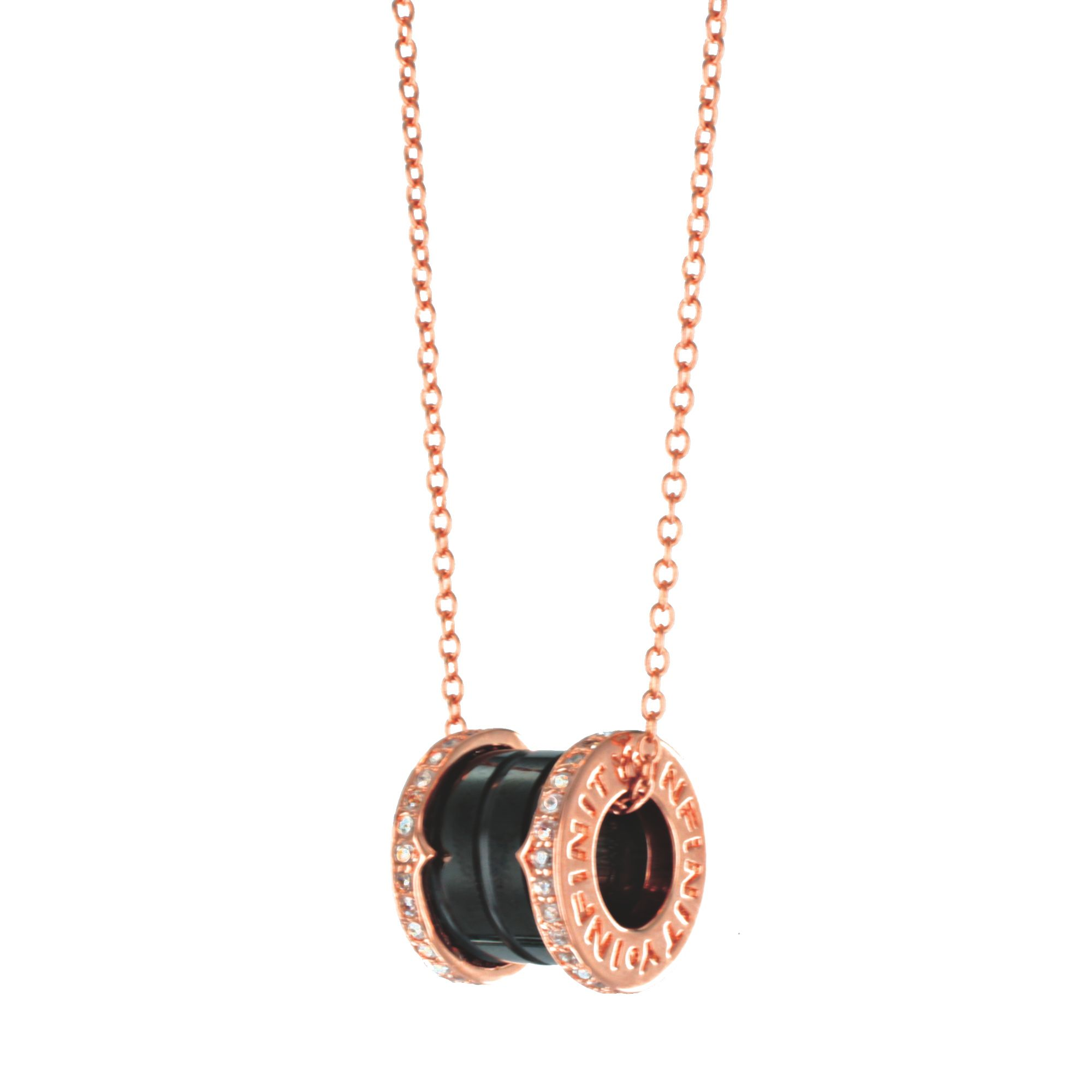 Infinity & Co Infinity & Co Emilie Pendant Black Rose, N/A