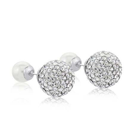 Infinity & Co Dianna Double earring white Large Pave