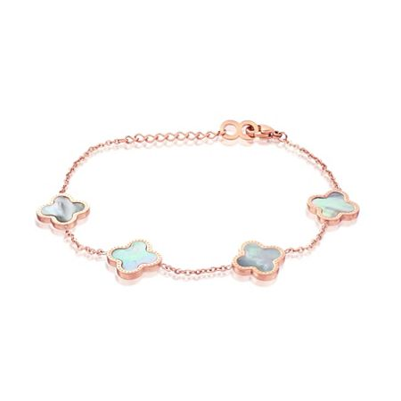 Infinity & Co Vanessa bracelet rose white mop