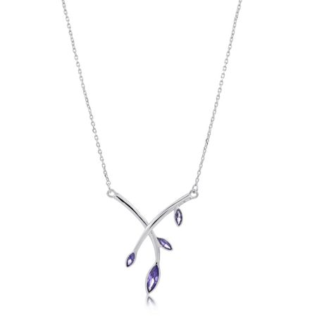 Infinity & Co Theresa Necklace Rhodium