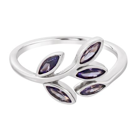Infinity & Co Theresa Branch Ring Rhodium