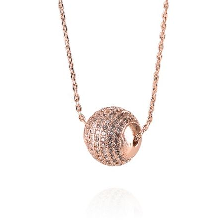 Infinity & Co Dianna Snowball Pendant Rose Gold