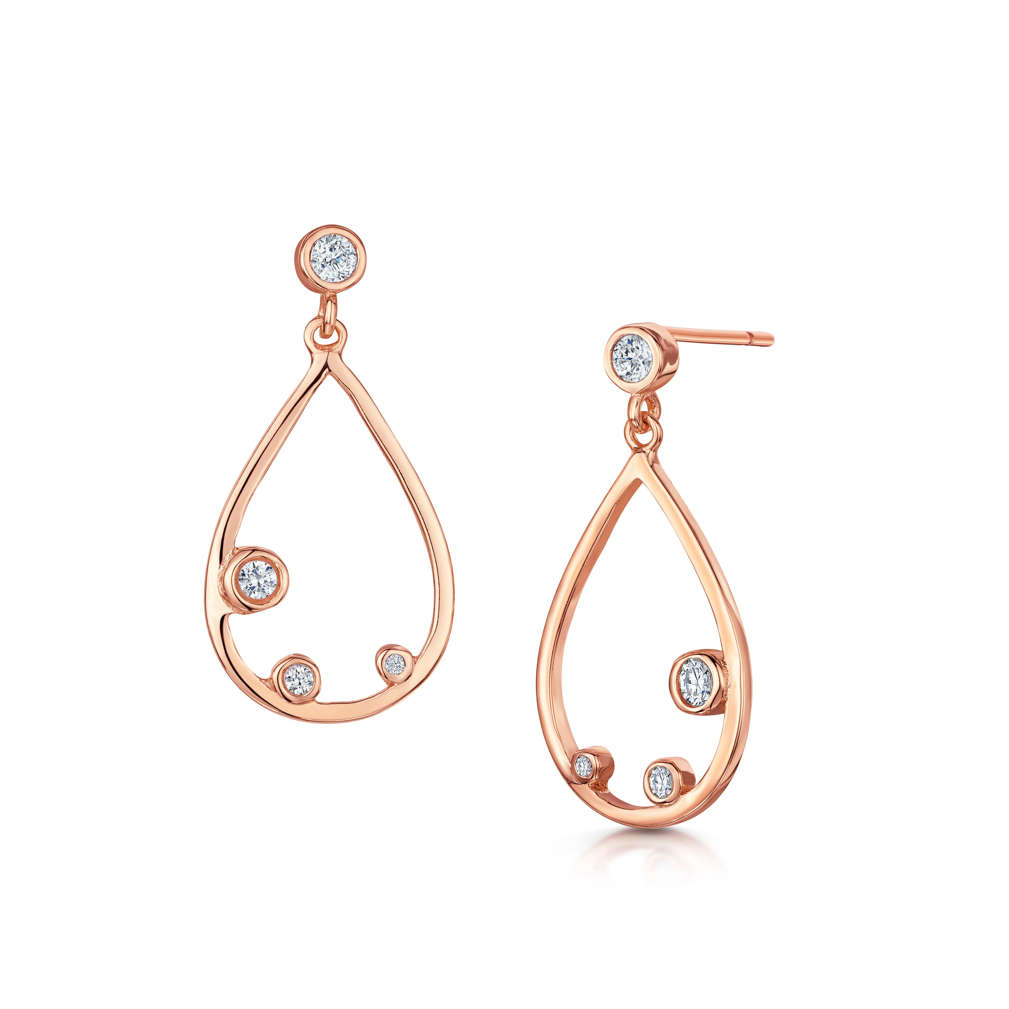 Infinity & Co Isabelle Earring, Pink