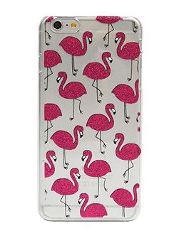 Skinnydip iPhone 6plus pink glitter flamingo