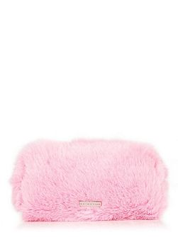 Pink Fur Make Up Bag