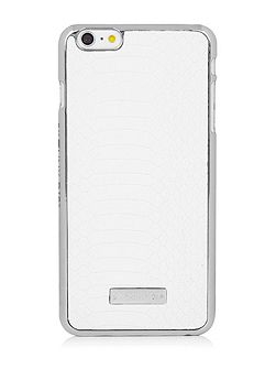 Iphone 6plus White Croc Case