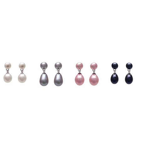 Kyoto Pearl Set of 4 double drop earrings