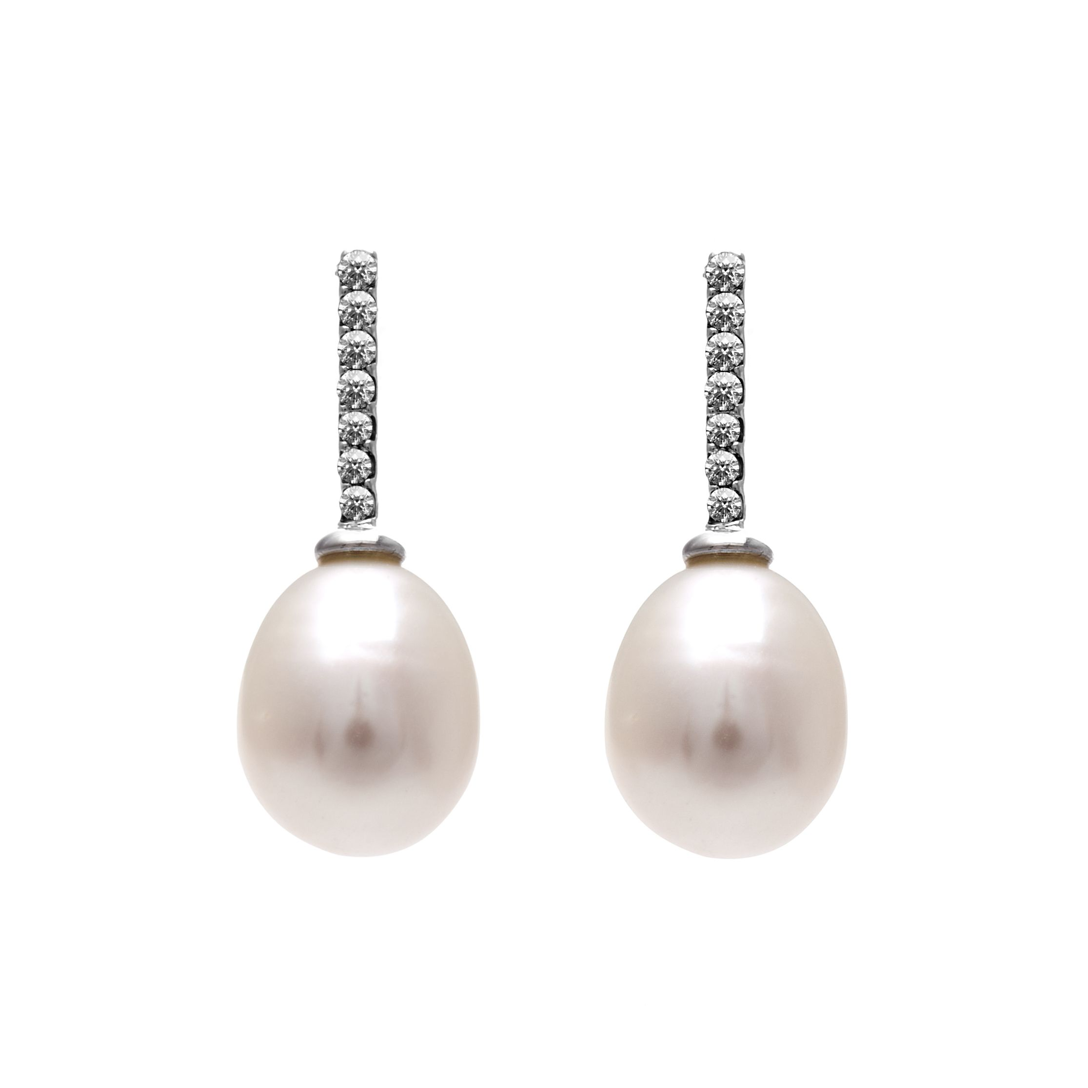 kyoto pearl drop earring with swarovski crystals