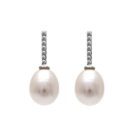 Kyoto Pearl Drop earring with swarovski® crystals