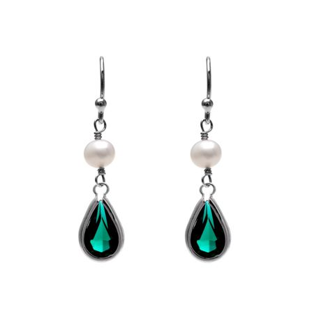 Kyoto Pearl Pearl and SWAROVSKI® Crystal Earrings