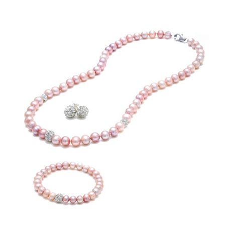 Kyoto Pearl Pearl and crystal ball tri set