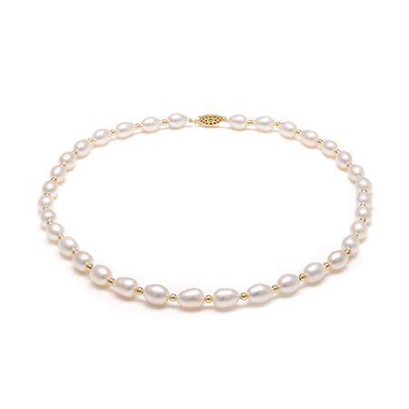 Kyoto Pearl White Freshwater Pearls Necklace