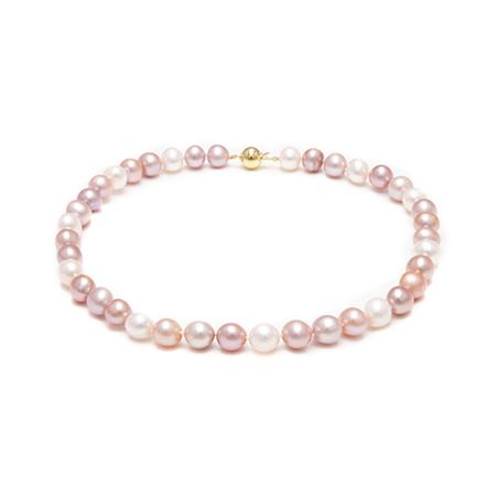Kyoto Pearl Pink, Peach and White Necklace