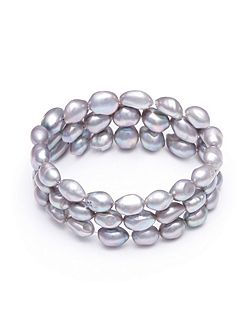 Grey Pearl Stretch Bracelet