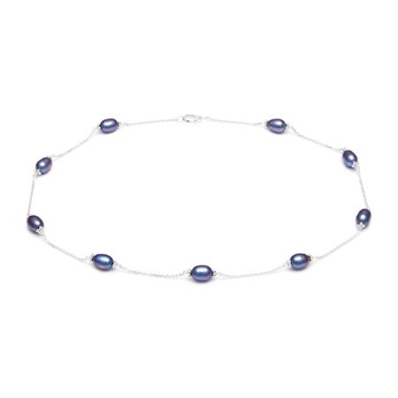 Kyoto Pearl Pearl and Interlinking Chain Necklace