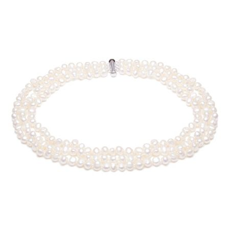 Kyoto Pearl Three Row Freshwater Pearl Necklace