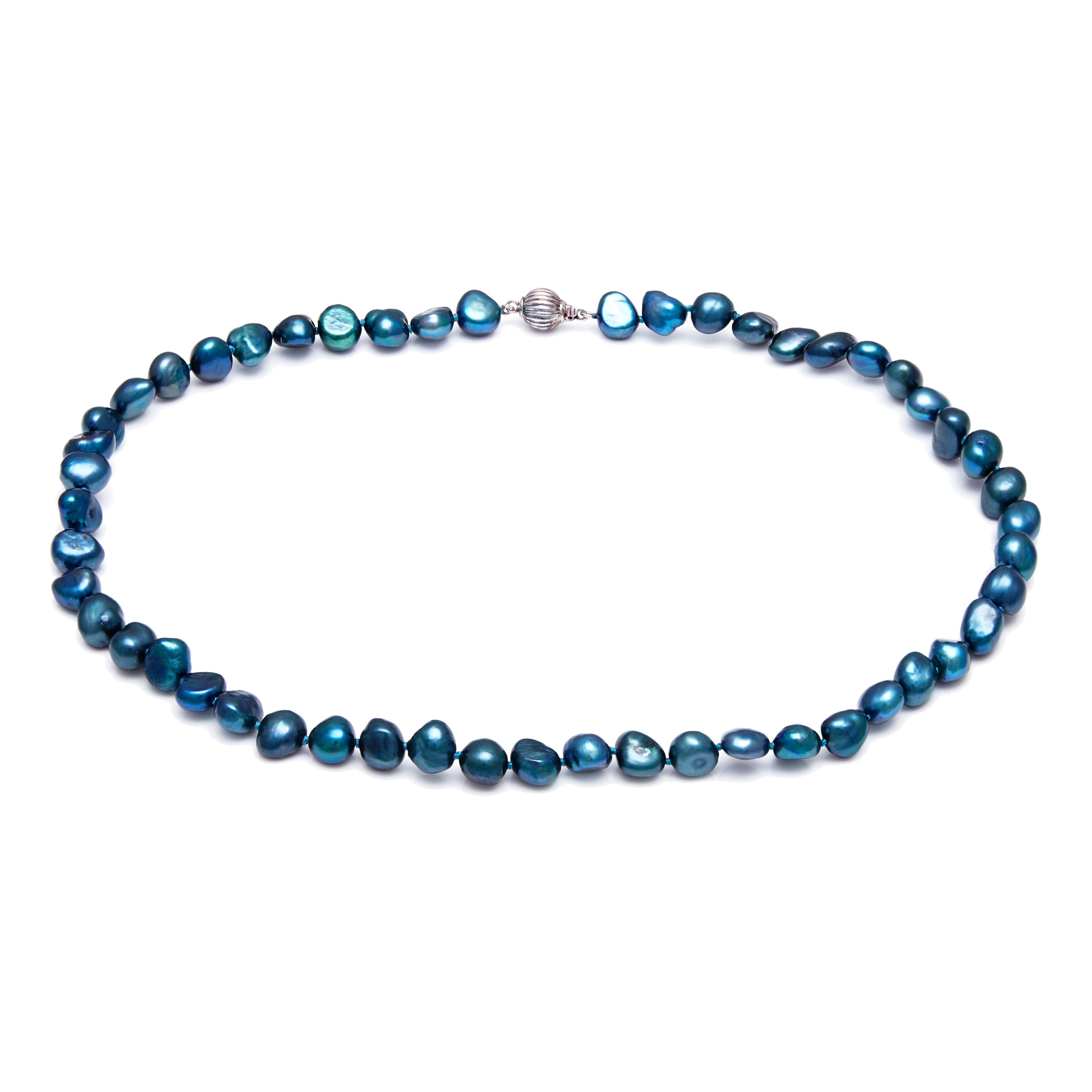 kyoto pearl saphire blue baroque pearl necklace