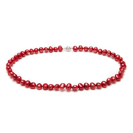 Kyoto Pearl Red Baroque Pearl Necklace