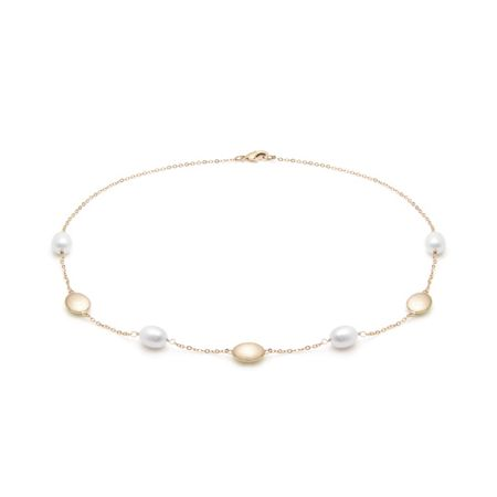 Kyoto Pearl Pearl and nugget necklace