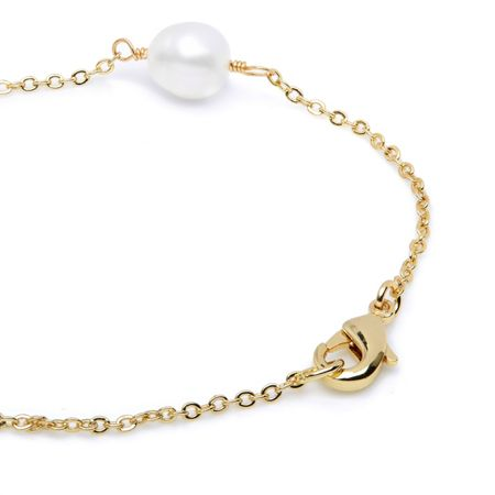 Kyoto Pearl Pearl and nugget bracelet